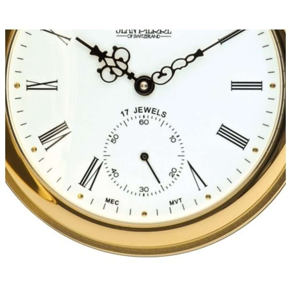 Gold Toned Full Hunter Mechanical Pocket Watch With Roman Numerals