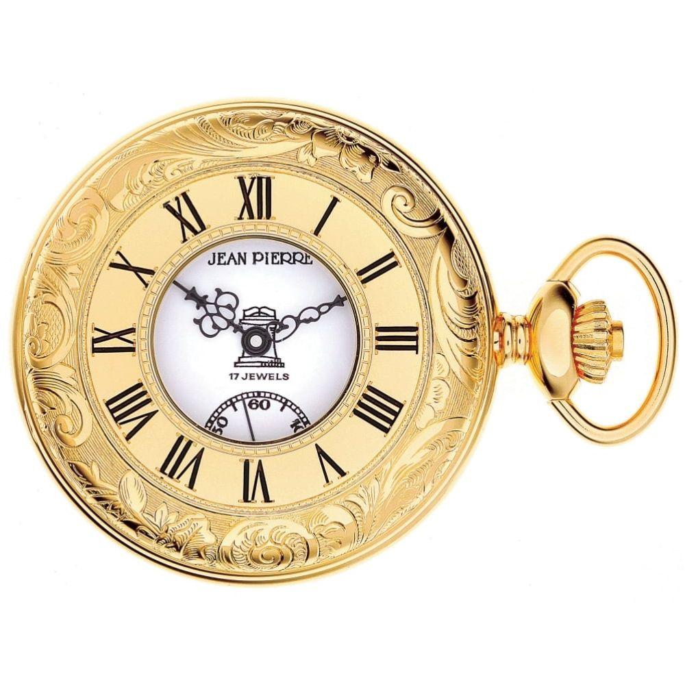 Gold Toned Masonic Half Hunter Mechanical Pocket Watch