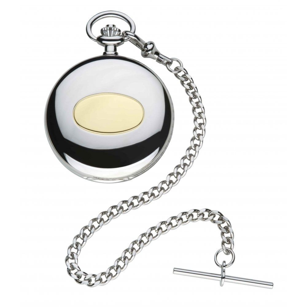 Classic Style Full Hunter Pocket Watch With Leather Case