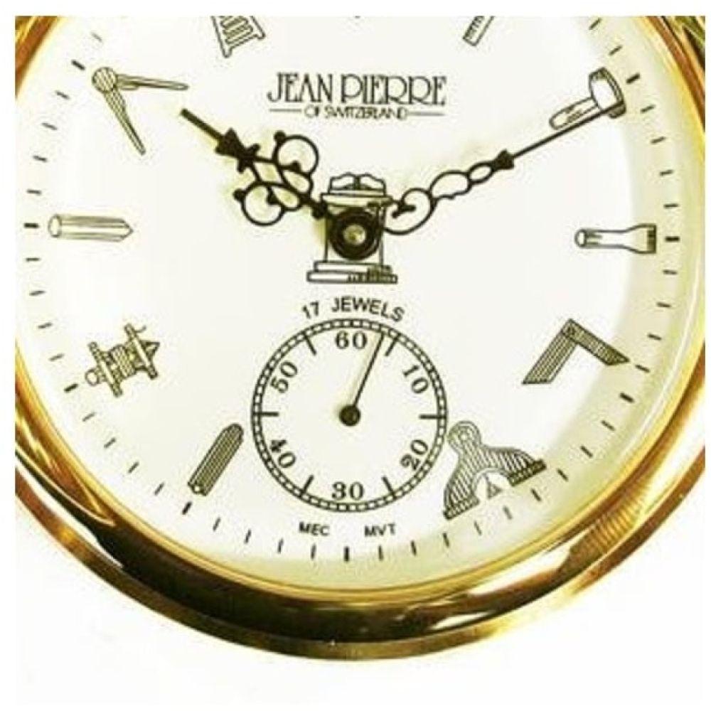 Masonic Half Hunter Gold Toned Mechanical Pocket Watch