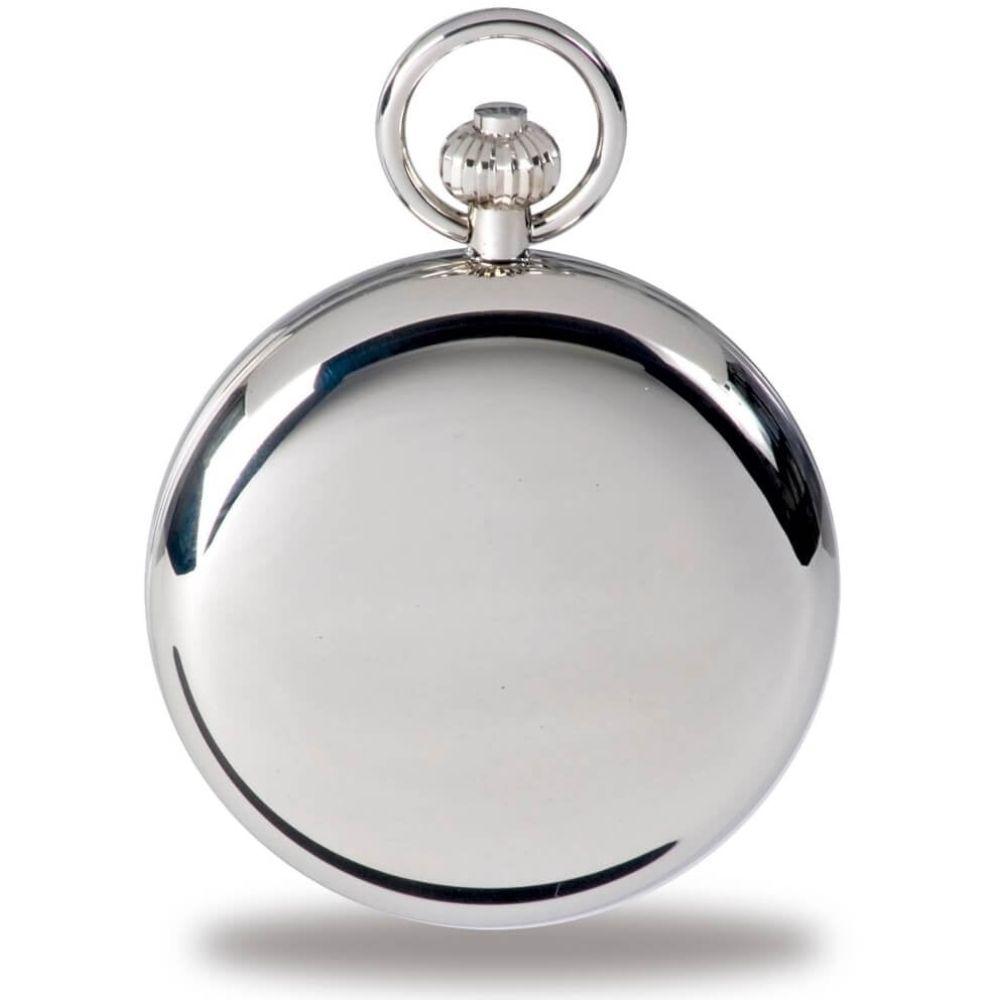Quartz Open Face Silver Tone Pocket Watch