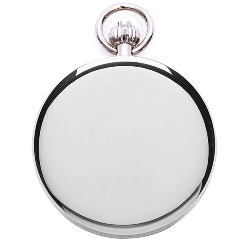 Chrome Double Hunter Mechanical Pocket Watch
