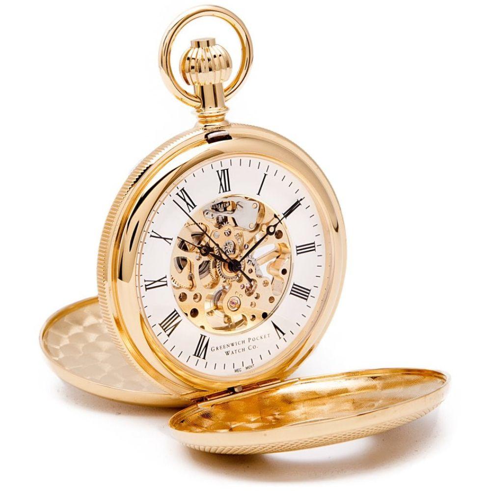 Whitehall - Gold Mechanical Double Half Hunter Pocket Watch
