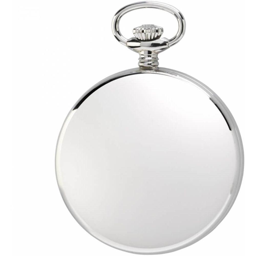 17 Jewel Open Face Mechanical Silver Pocket Watch