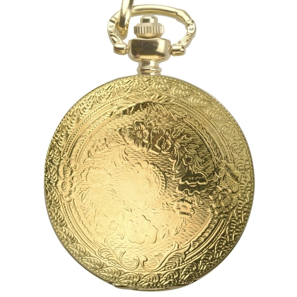Mens Gold Plated Full Hunter Pocket Watch