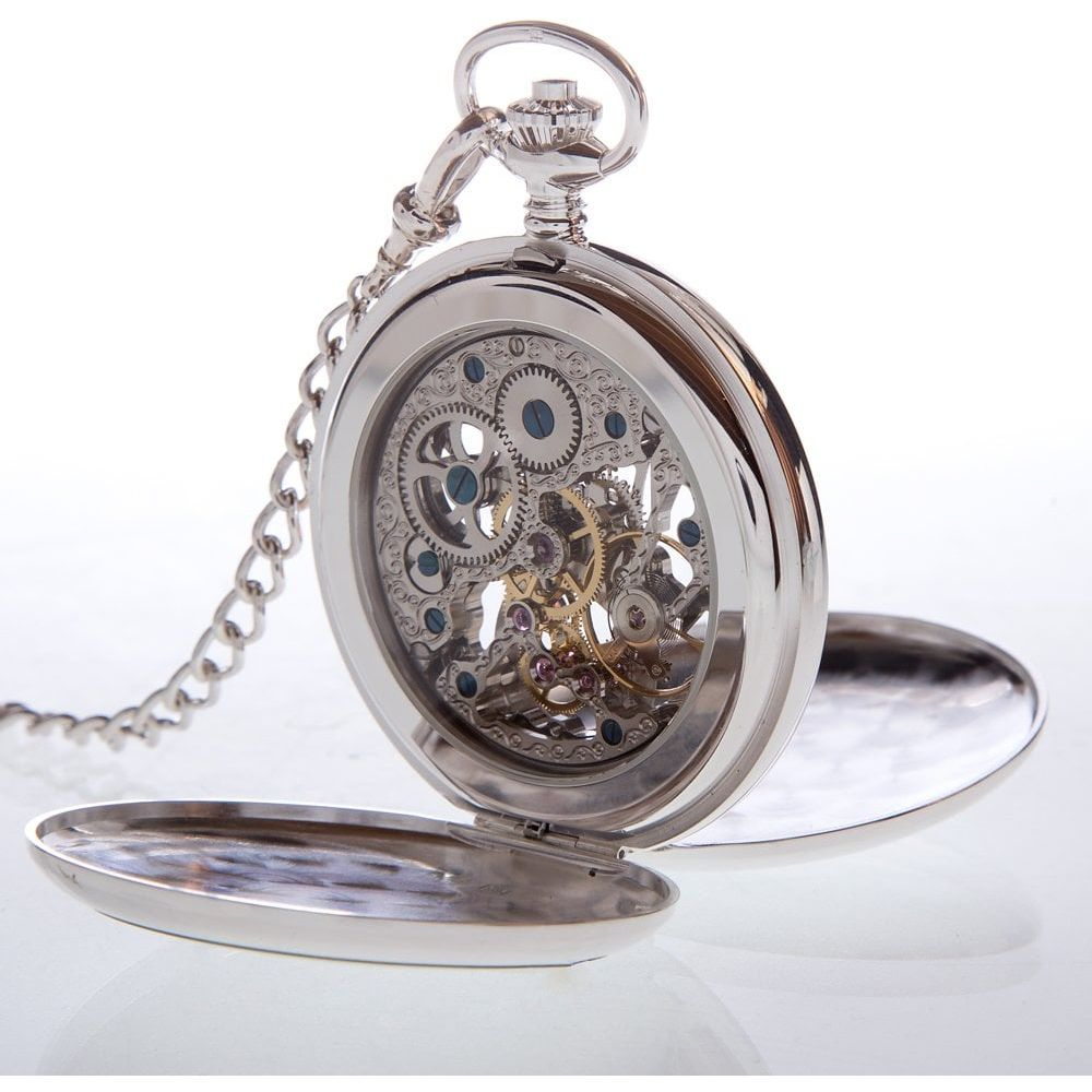 The Dalkeith - Sterling Silver Mechanical Double Hunter Pocket Watch