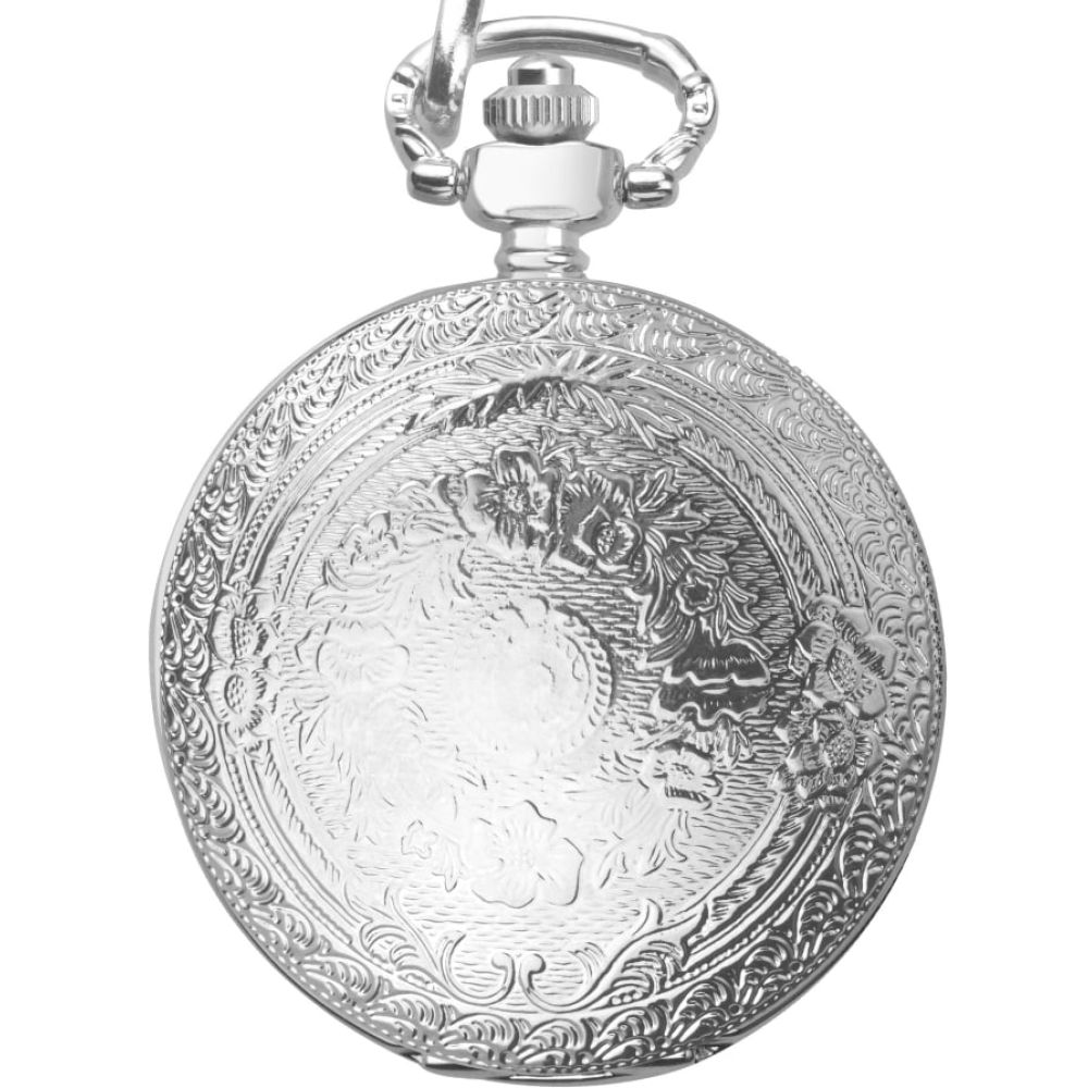 Mens Silver Plated Full Hunter Pocket Watch