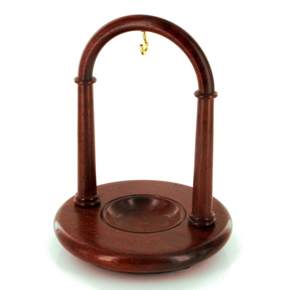 Padauk Finished Arched Pocket Watch Wood Stand