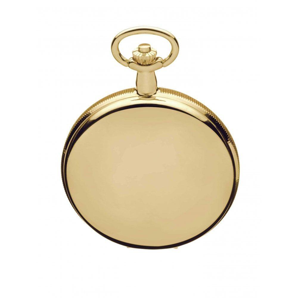 Gold Plated Mechanical Masonic Double Hunter Pocket Watch