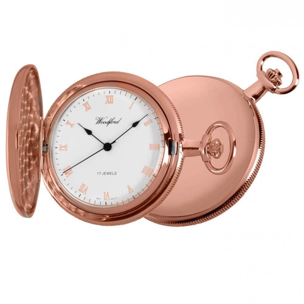 Rose Gold Full Hunter Pocket Watch
