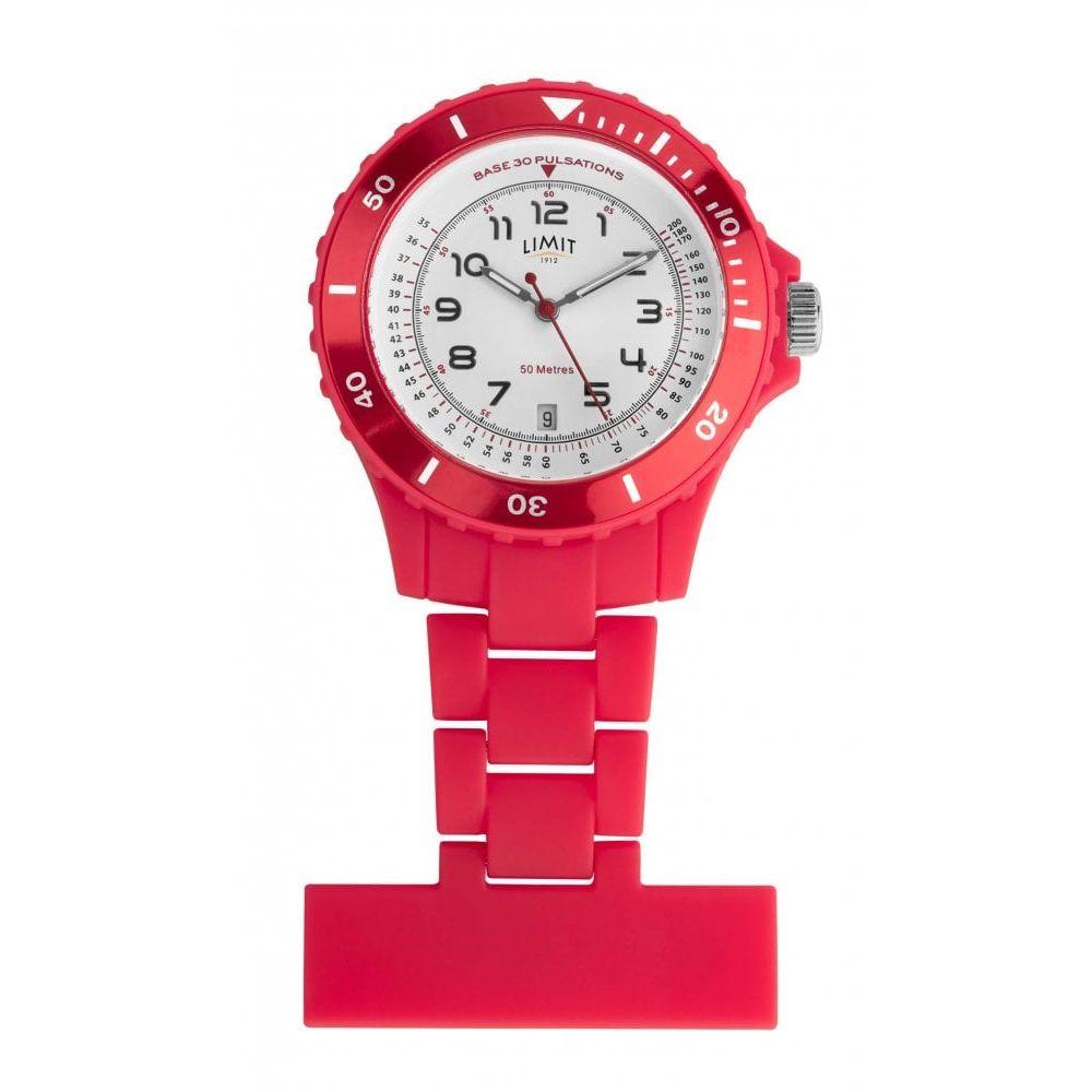 Red Resin Nurse Fob Watch