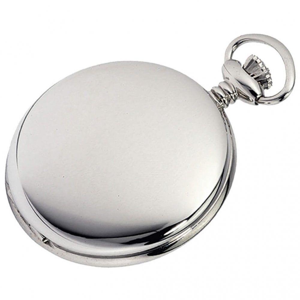 Chrome Plated Quartz Full Hunter Pocket Watch