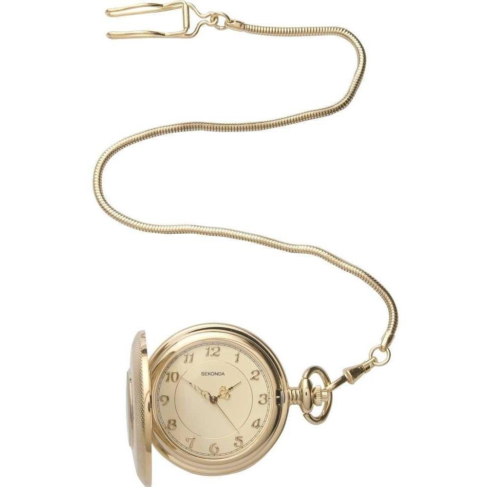 Mens Gold Plated Half Hunter Pocket Watch