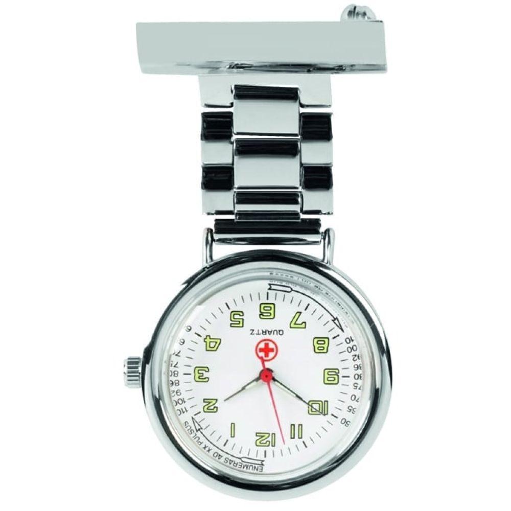 Unisex Nurse Chrome Plated Fob Watch