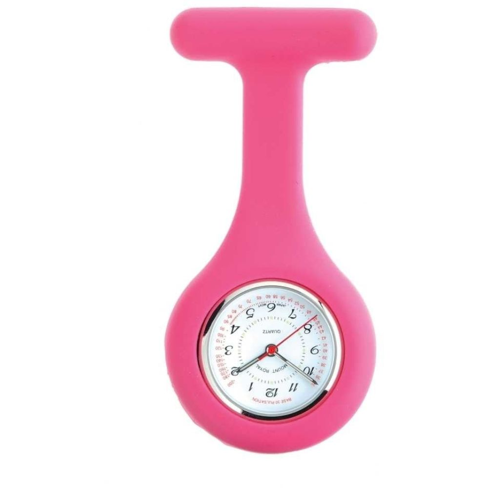 Pink Rubber Fob Watch
