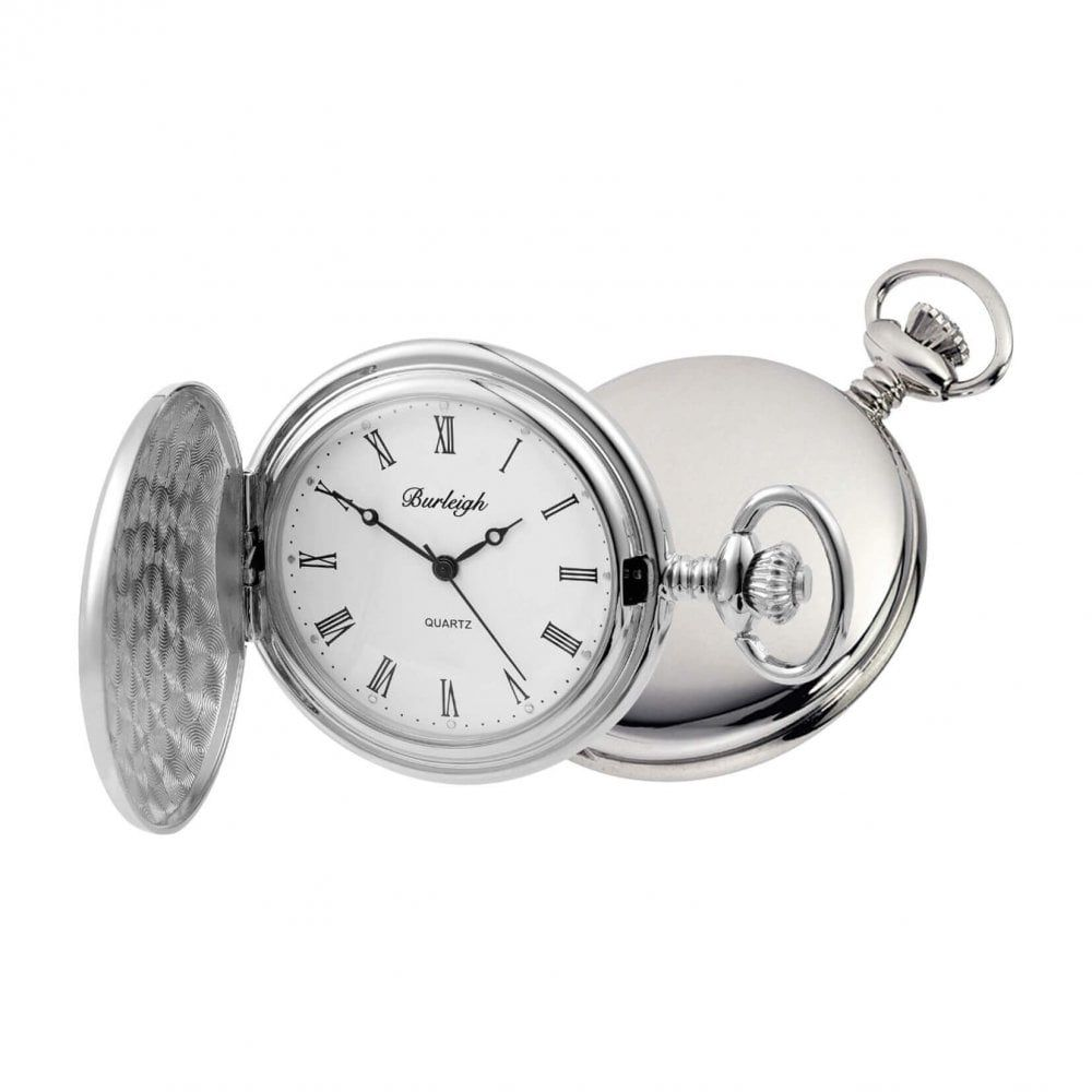 Gents Full Hunter Chrome Plated Pocket Watch