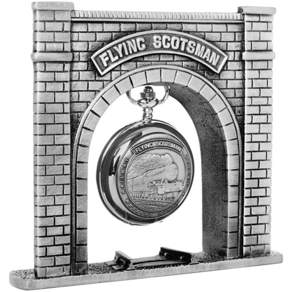 Flying Scotsman Pewter Pocket Watch Display Stand