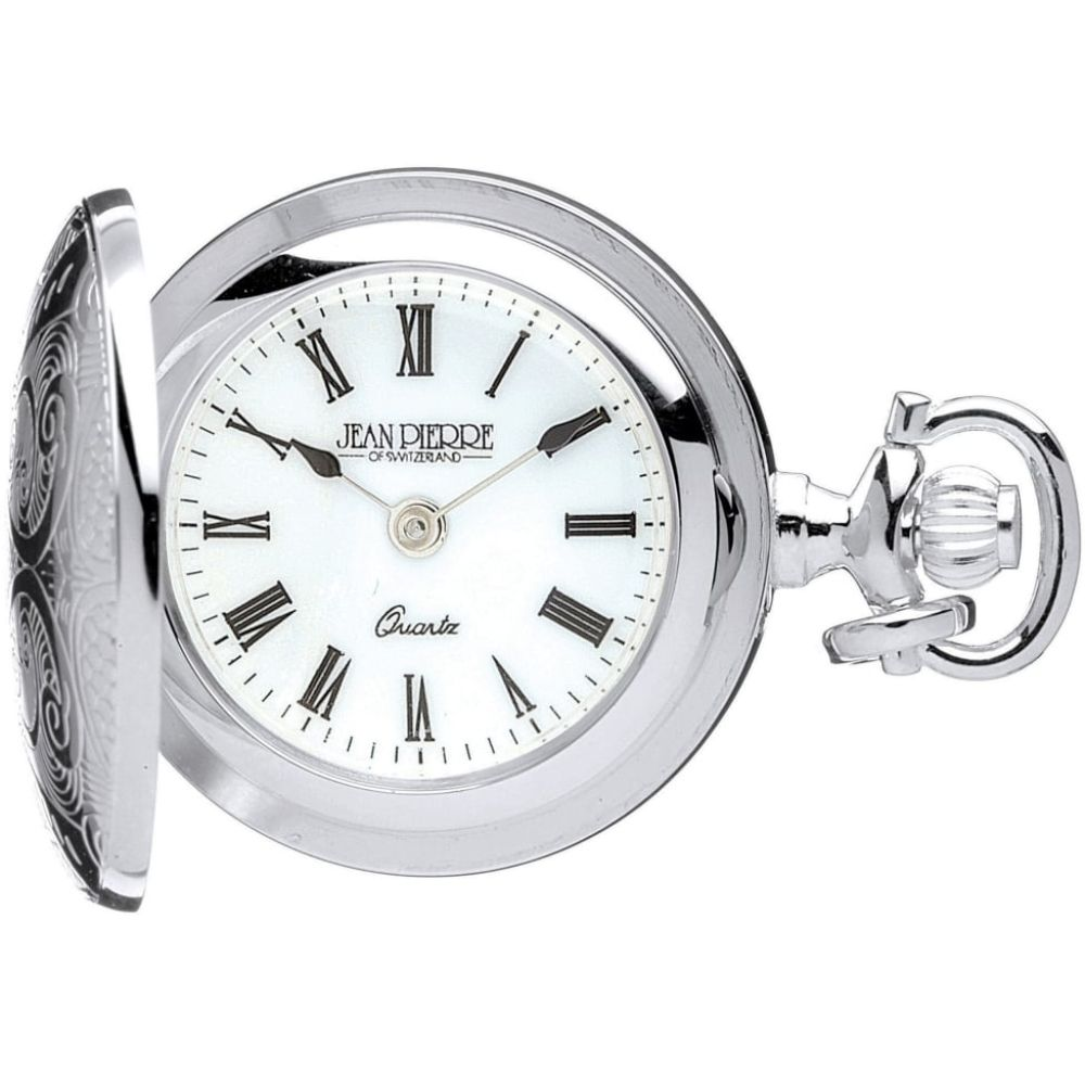 Sterling Silver Quartz Pendant Watch With Engravable Shield