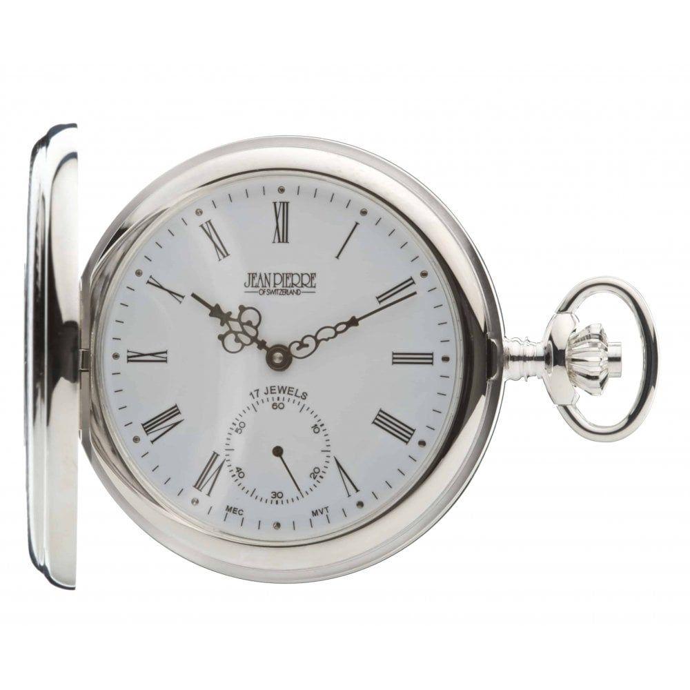 Sterling Silver Half Hunter Mechanical Pocket Watch