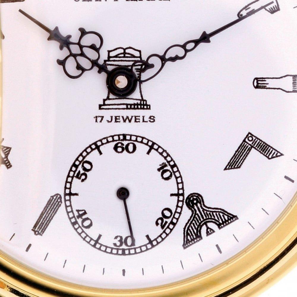 Mechanical Full Hunter Gold Toned Pocket Watch