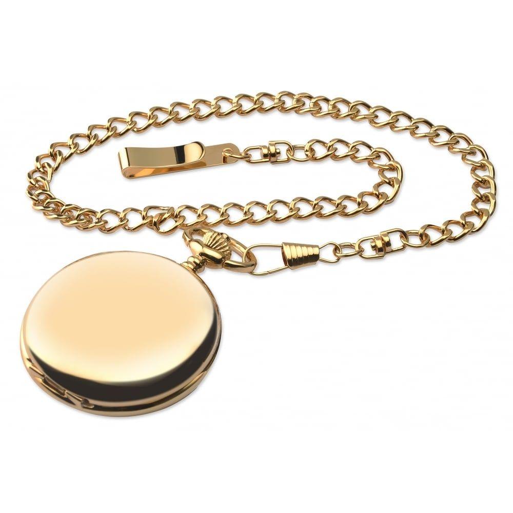 Gents Full Hunter Gold Tone Pocket Watch