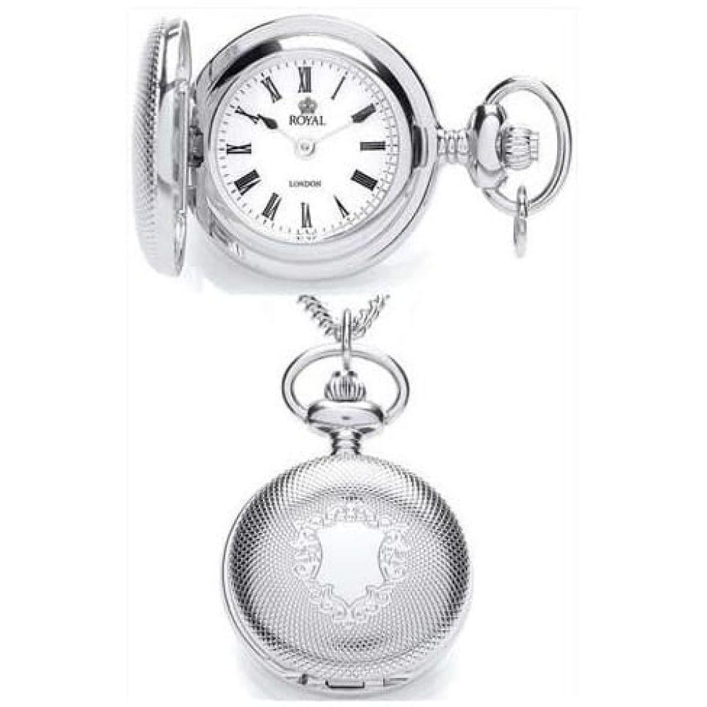 Ladies Chrome Pendant Necklace Watch With Roman Numerals