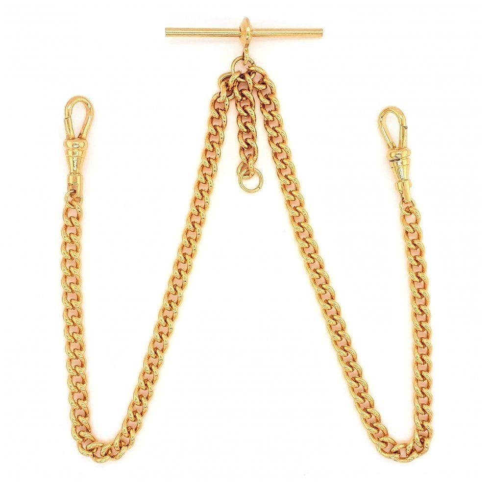 9ct Rolled Gold 16 Inch Double Albert Pocket Watch Chain