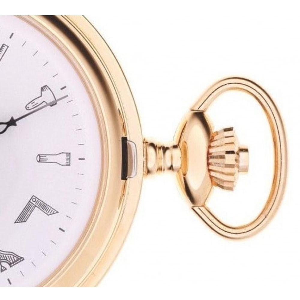 Masonic Gold Toned Mechanical Full Hunter Pocket Watch