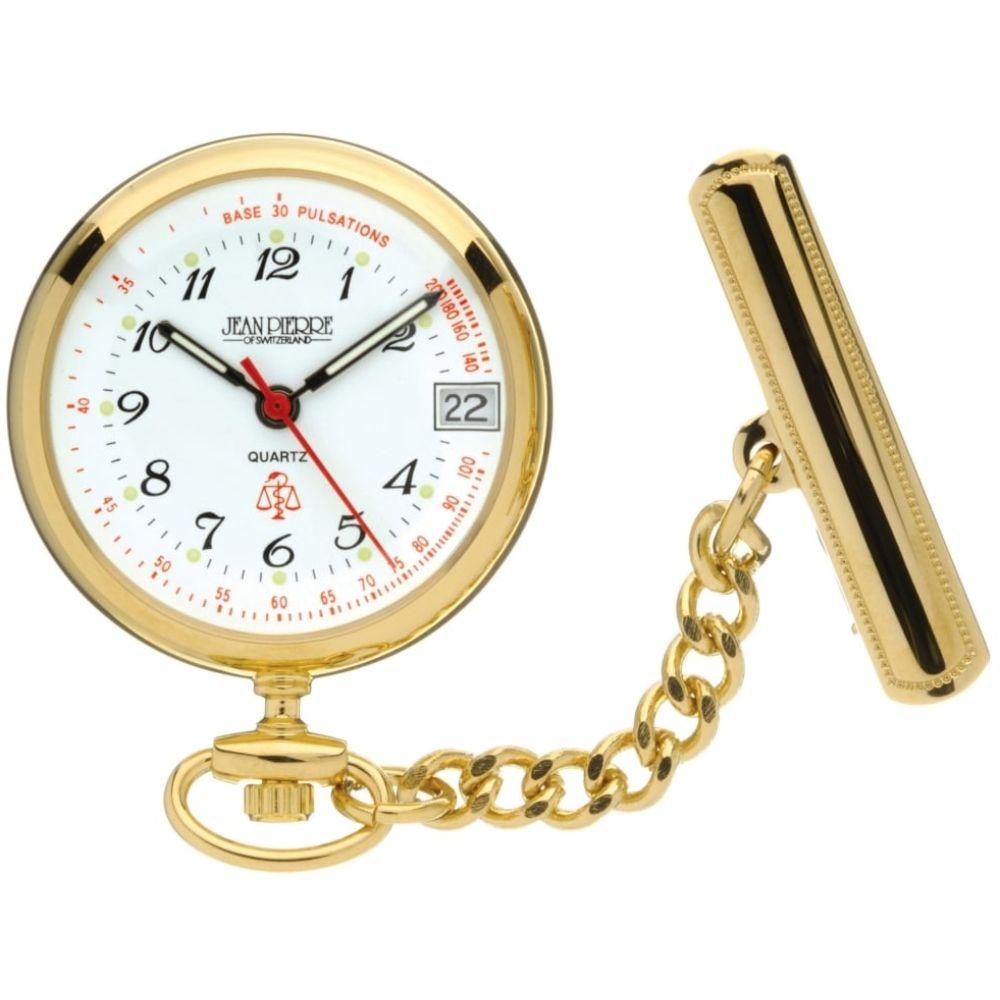 Gold Toned Quartz Nurses Fob Watch