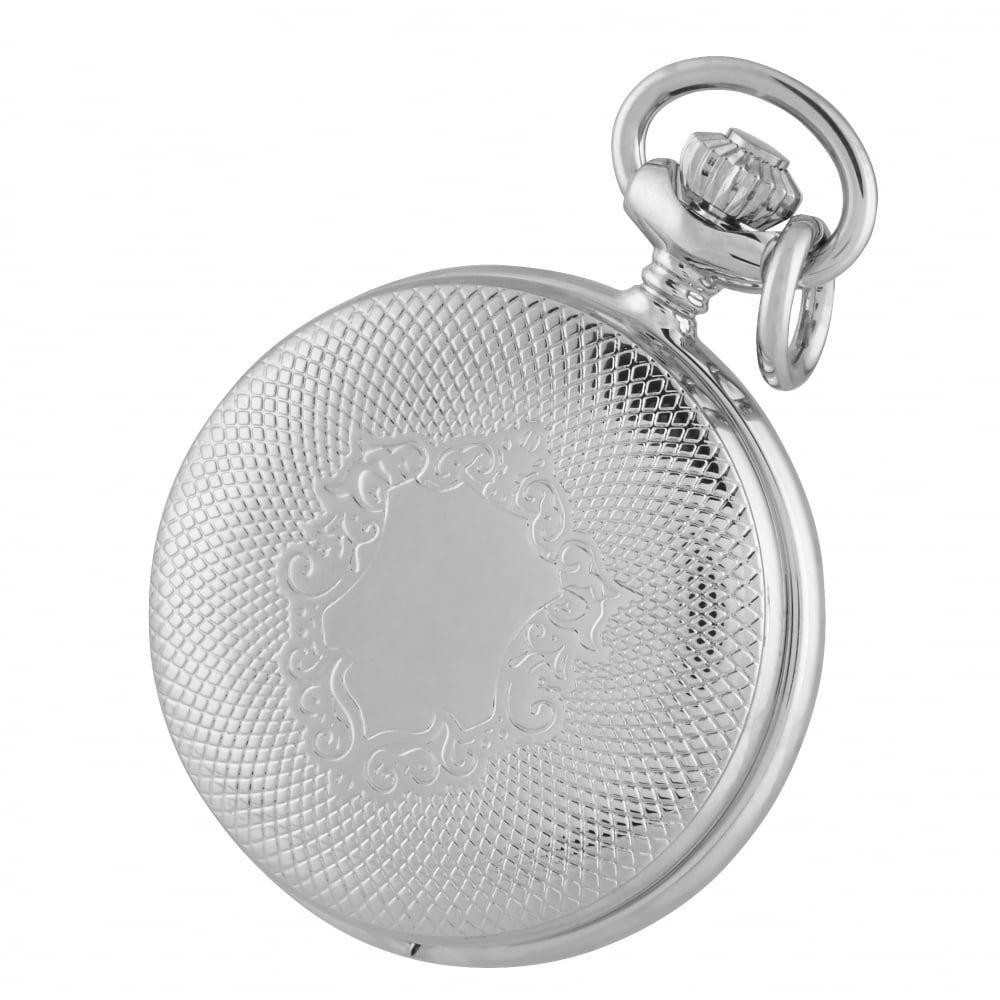 Chrome Quartz Pendant Necklace Engraved Shield Pattern