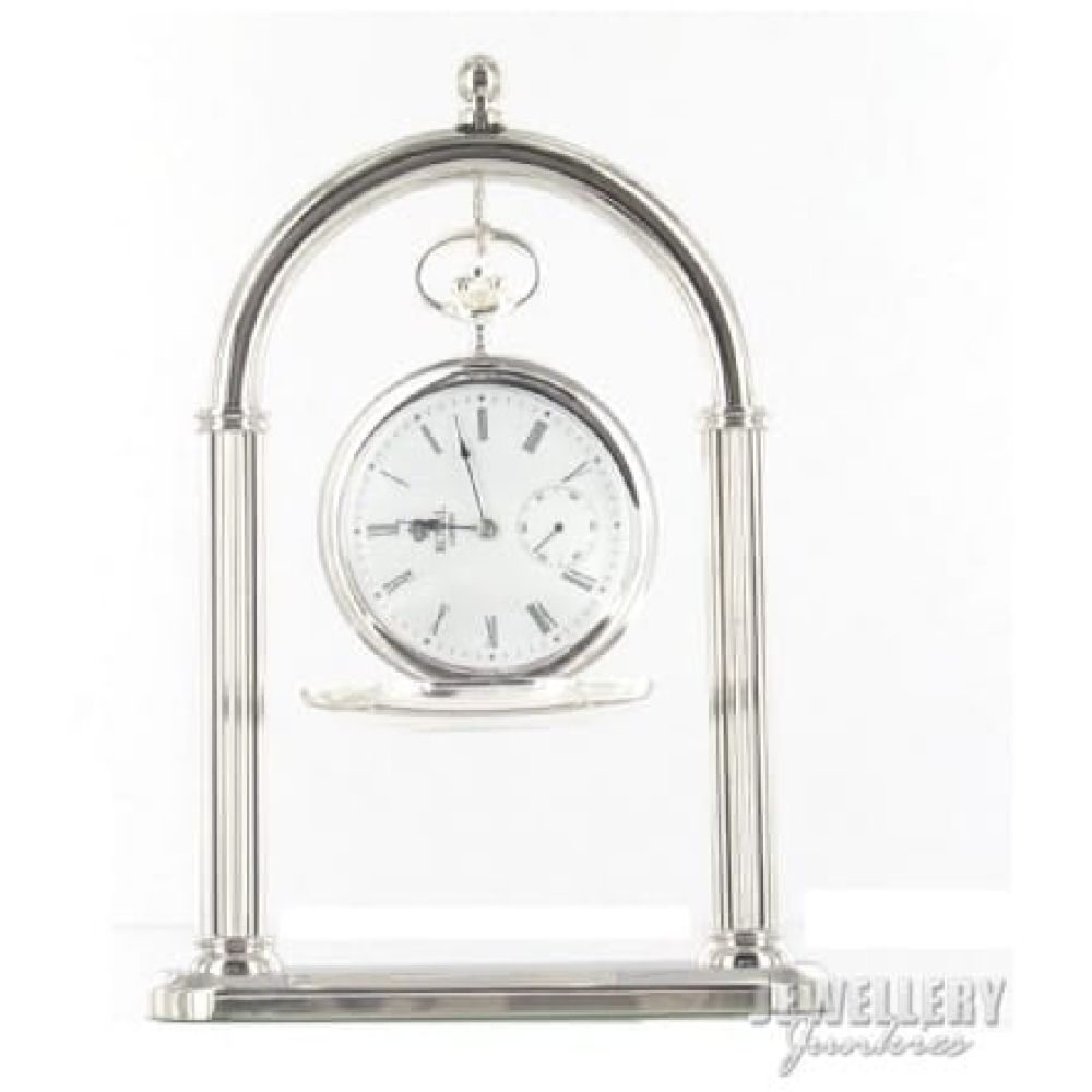 Chrome Plated Arch Pocket Watch Stand
