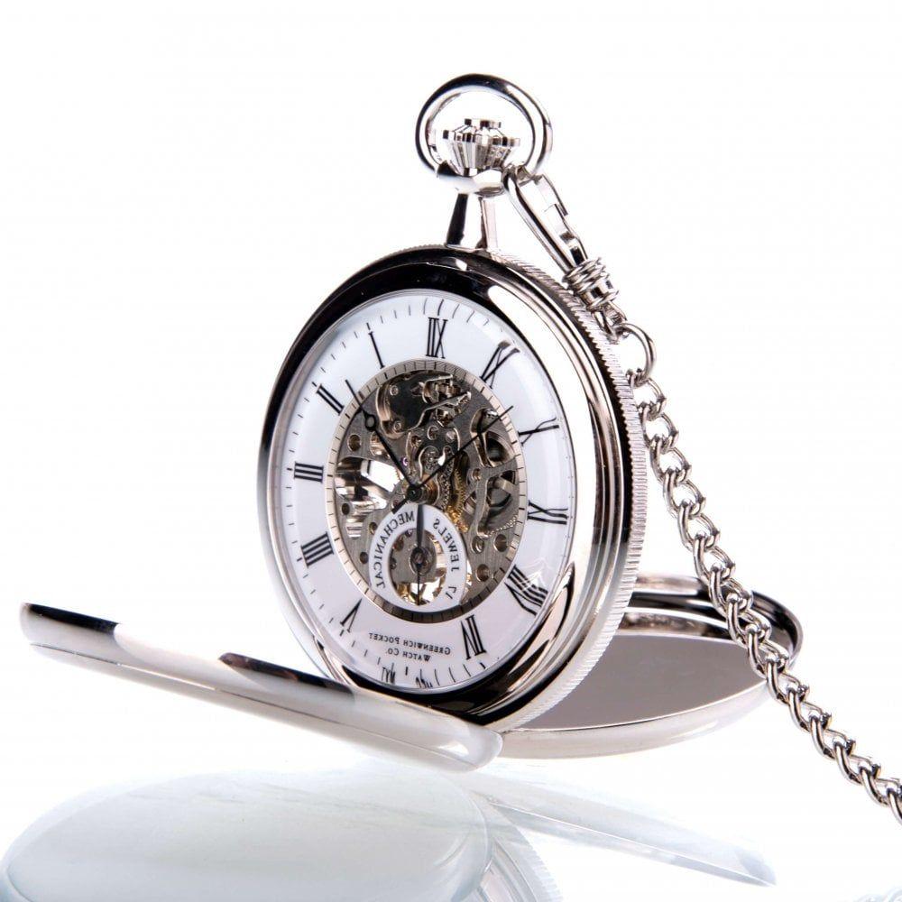 The St James - Chrome Mechanical Double Hunter Pocket Watch