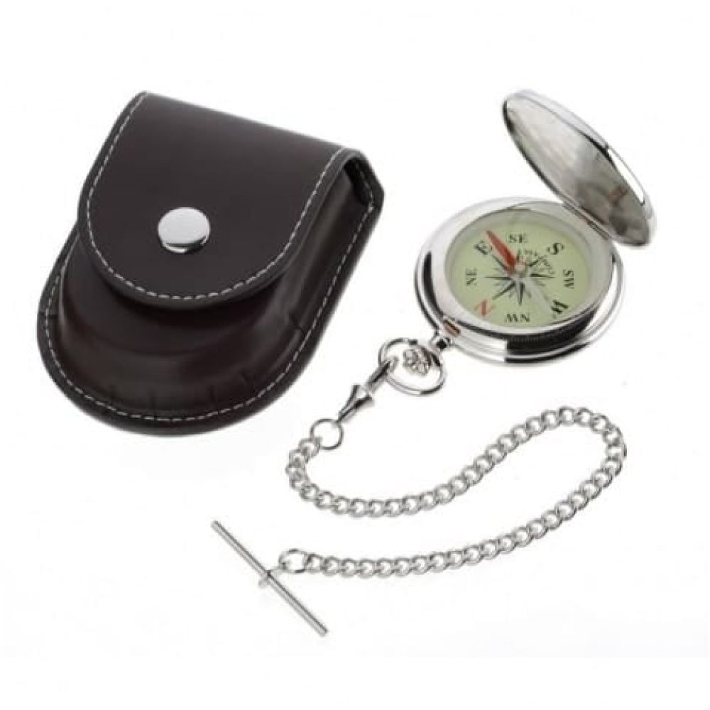 Gents Stainless Steel Pocket Compass