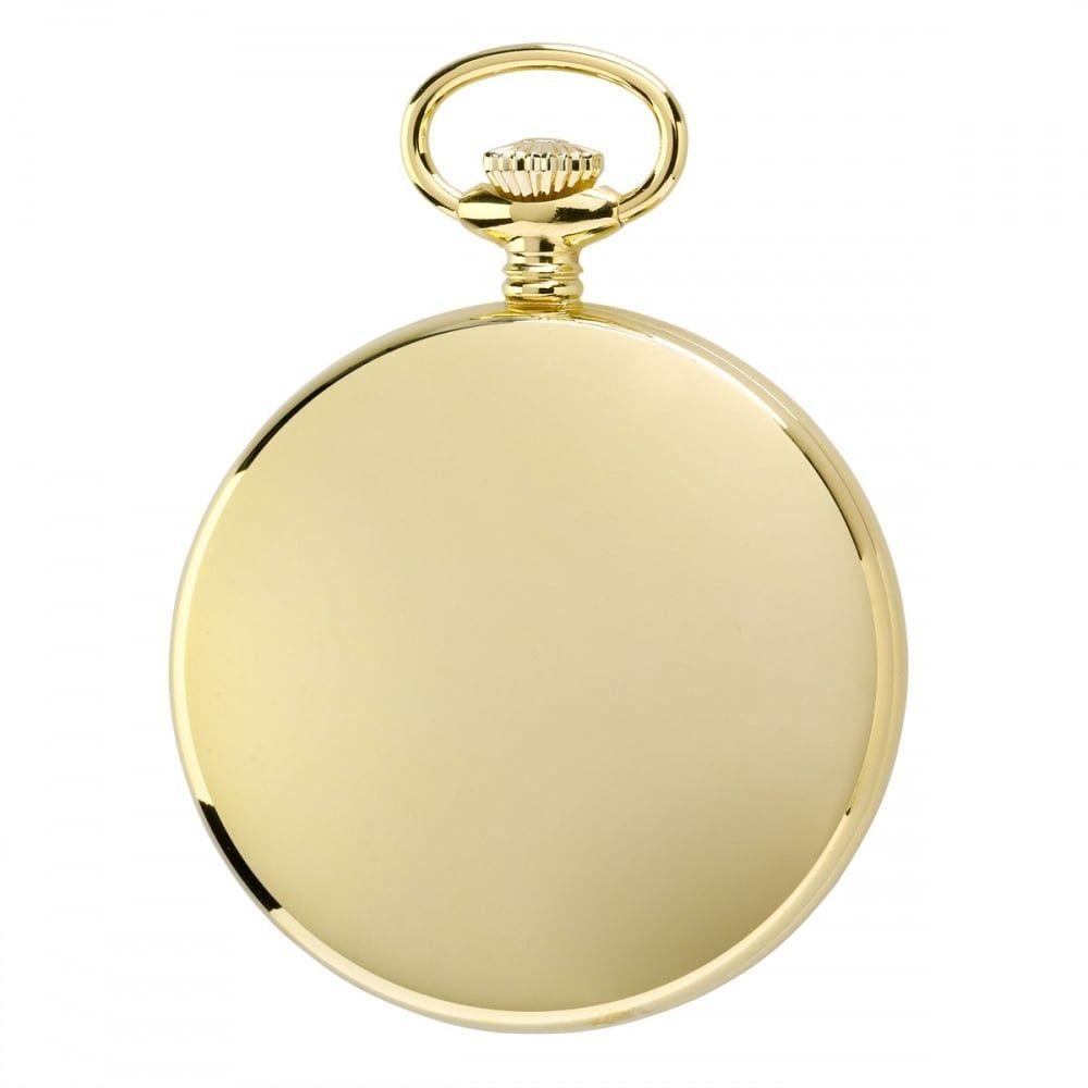 17 Jewel Open Face Mechanical Gold Plated Pocket Watch