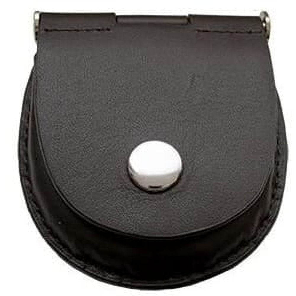 Petite Dark Brown Leather Pocket Watch Pouch