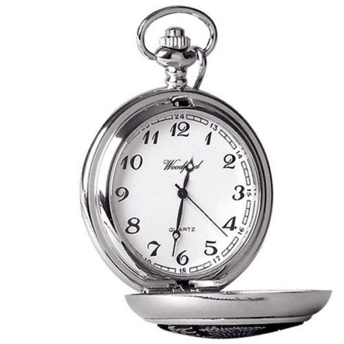 Chrome Finish Full Hunter Masonic Pocket Watch
