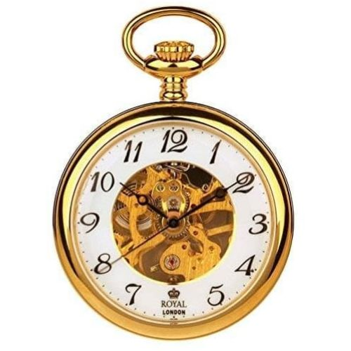 Pvd Gold Plated Mechanical Open Face Pocket Watch