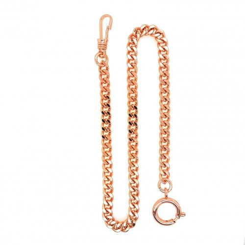 Rose Gold Plated Two Chain Bundle Belt Loop & Bolt Ring