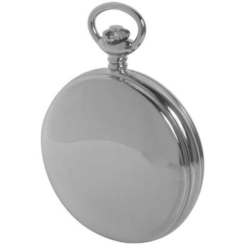 Double Hunter 17 Jewel Chrome Mechanical Pocket Watch