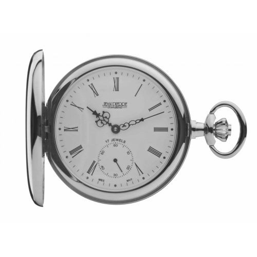 Mechanical Polished Chrome Full Hunter Pocket Watch