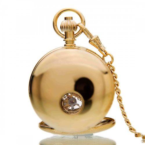 The Richmond - Gold Mechanical Double Half Hunter Pocket Watch