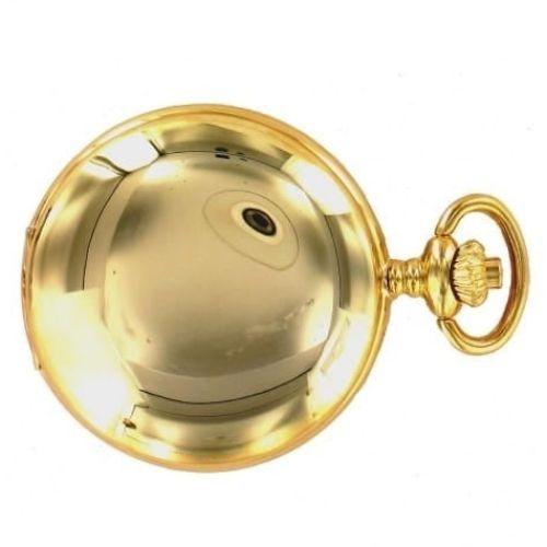 Polished Gold Plated Full Hunter Quartz Pocket Watch