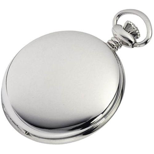 Polished Chrome Plated Full Hunter Mechanical 17 Jewel Pocket Watch