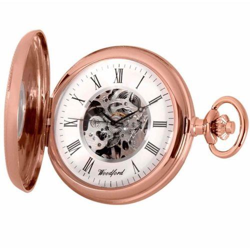Mechanical Rose Gold Half Hunter Pocket Watch