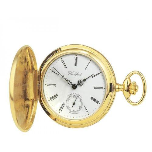Gold Plated 17 Jewel Swiss Mechanical Full Hunter Pocket Watch