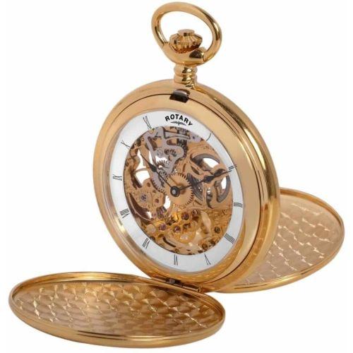 Double Hunter 17 Jewel Gold Mechanical Pocket Watch