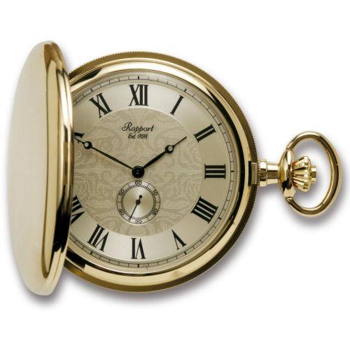 Gold Tone Full Hunter Quartz Pocket Watch