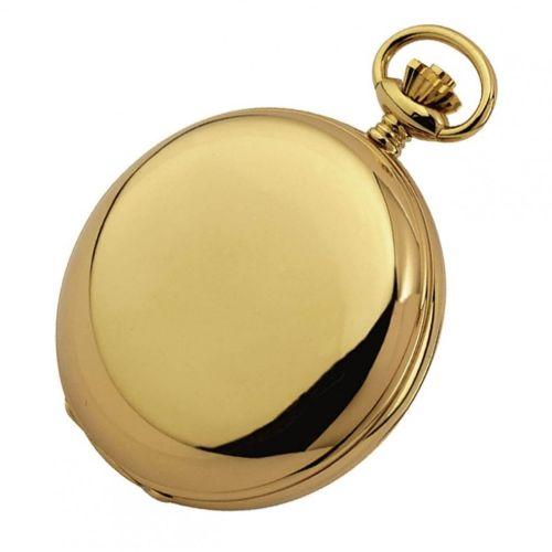 Gold Plated 17 Jewel Swiss Mechanical Full Hunter Pocket Watch 1009