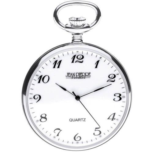 Sterling Silver Quartz Open Face Pocket Watch
