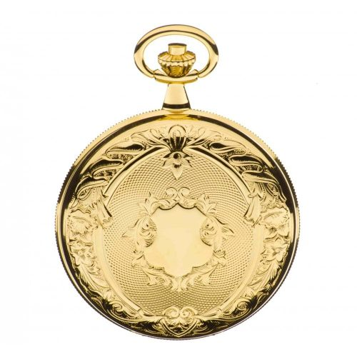 Gold Toned Double Hunter Mechanical Pocket Watch